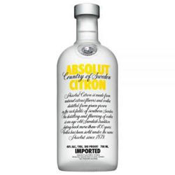 Picture of ABSOLUT VODKA CITRON 700ML 40% ABV