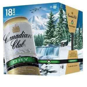 Picture of CANADIAN CLUB DRY 330ML CANS 18 PACK