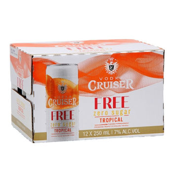 Picture of Cruiser TROPICAL ZERO 7% 12 Pack Cans 250ml