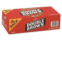 Picture of DB Double Brown 18 PK Cans 330ML