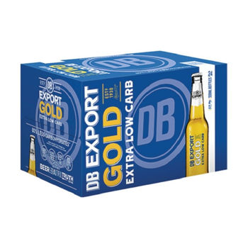Picture of DB EXPORT GOLD EXTRA LOW CARBS 24PK BOTTLES 330ML (Expired clearance)