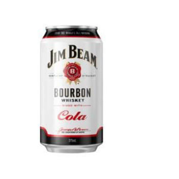 Picture of JIM BEAM & COLA 330ML CANS 10 PACK