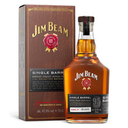 Picture of JIM BEAM SINGLE BARREL 95 PROOF 47.5% 700ML