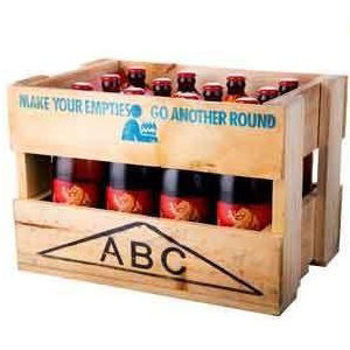 Picture of LION RED WOODEN CRATE 12PK 745ML BOTTLES