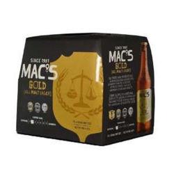 Picture of Mac's Gold All Malt Lager 5% 12pk bottles 330ml