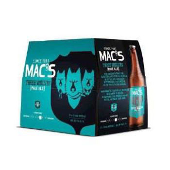 Picture of Macs Three Wolves Pale Ale 12 Pack Bottles 330ml