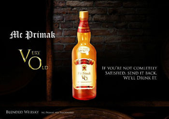 Picture of MR PRIMAK VERY OLD WHISKY CANADIAN 37% 350ML
