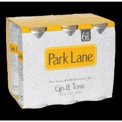 Picture of PARK LANE GIN & TONIC 250ML CANS 24 PACK