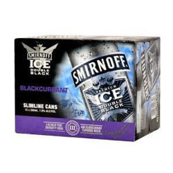 Picture of Smirnoff Ice Blackcurrant 7% 12 Pack Cans 250ml