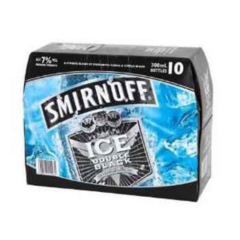 Picture of Smirnoff Ice Double Black 7% 10 Pack Bottles 300ml