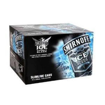 Picture of Smirnoff Ice Double Black 7% 12 Pack Cans 250ml