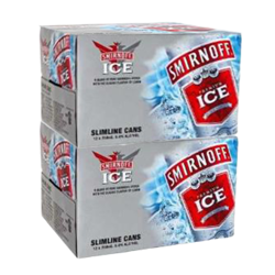 Picture of SMIRNOFF ICE RED 5% 12 Pack CANS 250ML- Bundle of 2