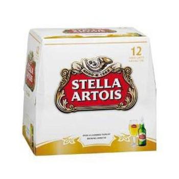 Picture of Stella Artois 12 Pack Bottles 330ml