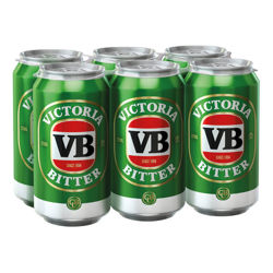 Picture of VICTORIA BITTER 4X6PK 375ML (24PK) CANS