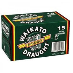 Picture of WAIKATO DRAUGHT 330ML BOTTLES 15 PACK