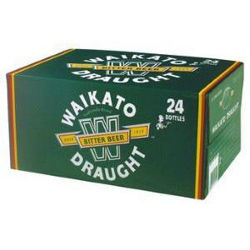 Picture of WAIKATO DRAUGHT 330ML BOTTLES 24 PACK
