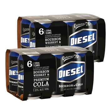 Picture of Diesel & Cola 7% 2x6-Pack Cans 330ml