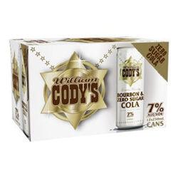 Picture of Codys Bourbon & Zero Sugar  Cola7% 250ml 12pack