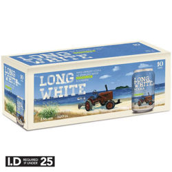 Picture of LONG WHITE CRIPS GIN & SODA WITH CRANBERRY  4.8% 320ML CAN 10PK