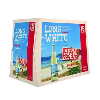 Long White Apple & Pear 15 Pack Bottles 4.8% 320ml