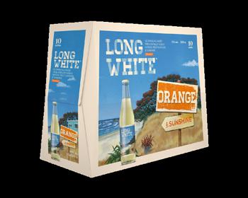 Long White Orange 10 PK Bottles 4.8% 320ml