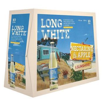 Long White Nectarine & Apple 10 PK Bottles 4.8% 320ml