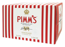 Picture of Pimms Lemonade And Ginger Ale 4% 250mL Cans 12 Pack