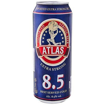 ATLAS STRONG 8.5% 24PK CANS (STOCK DATED CLEARANCE)