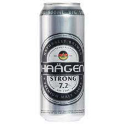Picture of Haagen Strong Lager 7.2%  500ml (3-CAN-DEAL)