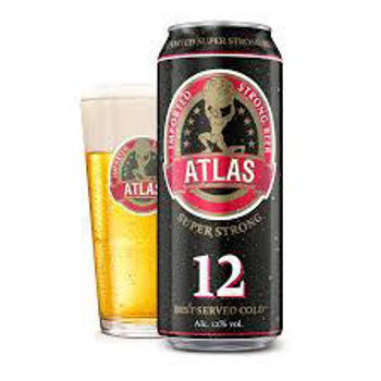 Picture of ATLAS STRONG 12% BEER 500ML 24pk Cans (CLEARANCE Best before 31-12-2020)