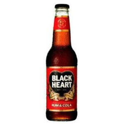 Picture of BLACKHEART RUM COLA 330ML BOTTLES 12 PACK