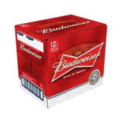Picture of Budweiser 12 Pack Bottles 355ml