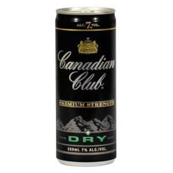 Picture of CANADIAN CLUB DRY 250ML CANS 12 PACK