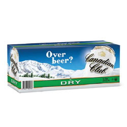 Picture of CANADIAN CLUB DRY 330ML CANS 10 PACK