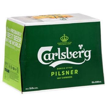 Picture of CARLSBERG PILSNER 15PK BTLS
