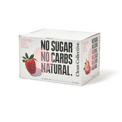 Picture of CLEAN COLLECTIVE STRAWBERRY BLUSH PINK GIN NO SUGAR 5% 250ML 12 PACK CANS