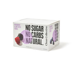 Picture of CLEAN COLLECTIVE WILDBERRY & LIME WITH VODKA NO SUGAR 5% 250ML 12 PACK CANS