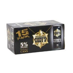 Picture of Codys & Cola 5% 15 Pack Cans 250ml