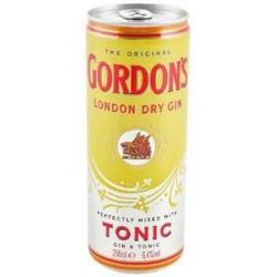 Picture of GORDONS GIN & TONIC 250ML CANS 24 PACK