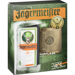 Picture of Jagermeister 700ml With Hip Flask Gift pack Online special