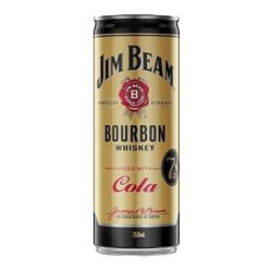 Picture of JIM BEAM & COLA GOLD 250ML CANS 12 PACK