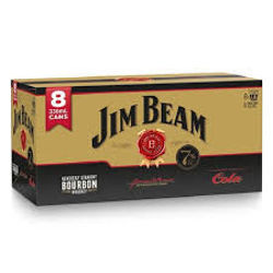 Picture of JIM BEAM & COLA GOLD 330ML CANS 8 PACK 7%