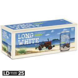 Picture of LONG WHITE VODKA & LEMON LIME 4.8% 320ML CAN 10PK