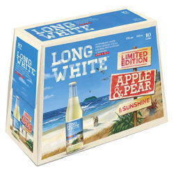 Picture of LONG WHITE VODKA APPLE AND PEAR 4.8% 10Pk BTL 320ML