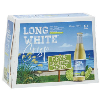 Picture of LONG WHITE VODKA CRISP HINT OF LIME 4.8% 10Pk 320ML -Short dated Bundle of 2