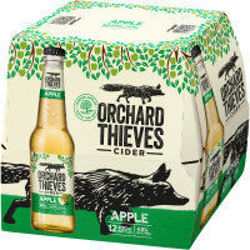 Picture of ORCHARD THIEVES LOW SUGAR APPLE CIDER 12PK 330ML