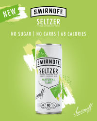 Picture of SMIRNOFF SELTZER NATURAL LIME NO SUGAR 5% 250ML 12 PACK CANS