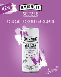 Picture of SMIRNOFF SELTZER PASSION FRUIT NO SUGAR 5% 250ML 12 PACK CANS