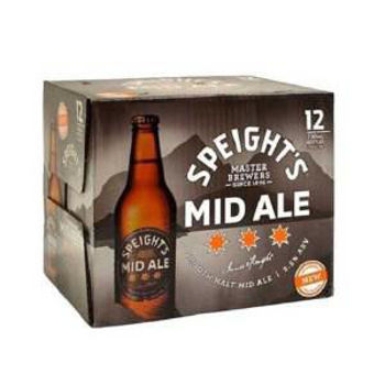 Picture of Speights Mid Ale 12pk Bottles 330ml