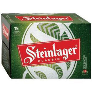 Picture of Steinlager Classic 15pk Bottles 5% 330ml Bundle of 2